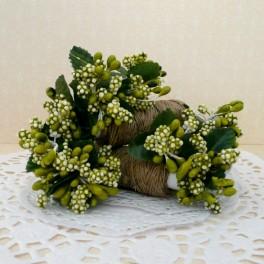 Pręciki i gronka w kiściach 6 szt. zielone