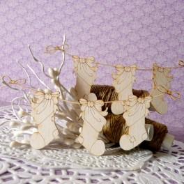 Świąteczne skarpety na sznurku