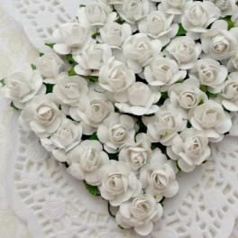 Drobne różyczki białe