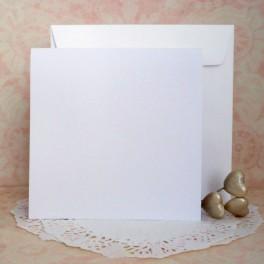 Bazy kwadratowe + koperty, białe, 50 szt.