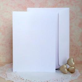 Bazy A6, sztalugowe + koperty, białe, 50 szt.