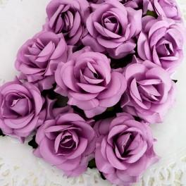 Eleganckie róże 40 mm fioletowe
