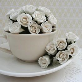 """Różyczki """"bibułki"""" białe"""