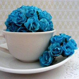 """Różyczki """"bibułki"""" niebieskie"""