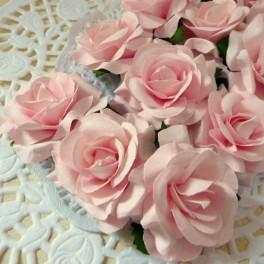 Eleganckie róże 40 mm różowe