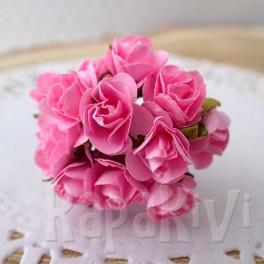 Mini różyczki 10 mm różowe