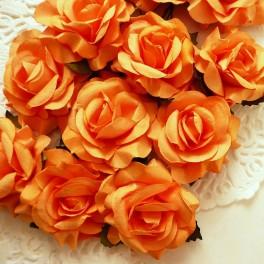 Eleganckie róże 40 mm pomarańczowe