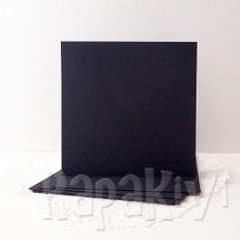 Bazy kwadratowe, czarne, 5 szt.