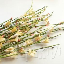 Gałązka kwiatowa żółto-łososiowa