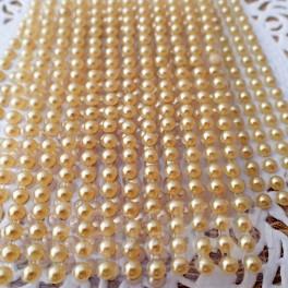 Półperełki 4 mm złote