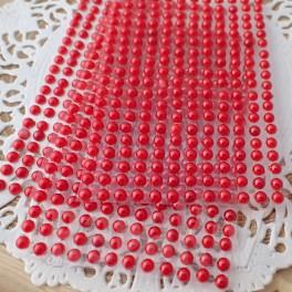 Półperełki 4 mm czerwone