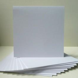 Bazy kwadratowe 14,8 cm, białe, 10 szt.