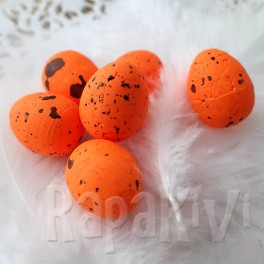 Jajka przepiórcze nakrapiane 1,8 cm pomarańczowe 6 szt.