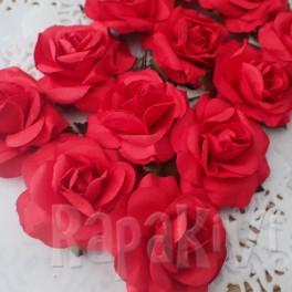 Eleganckie róże 40 mm czerwone