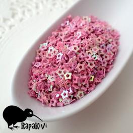 Cekiny 3 mm gwiazdki pudrowy róż