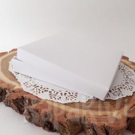 Pudełko na kartkę kwadratowe + baza, białe