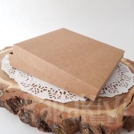Pudełko na kartkę kwadratowe + baza, kraft