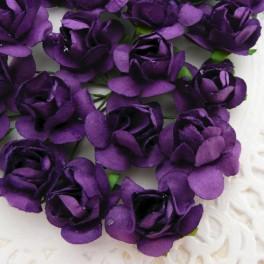 Klasyczne róże ciemnofioletowe