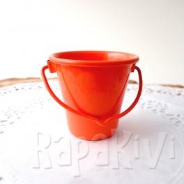 Wiaderko 4,5 cm pomarańczowe