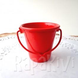 Wiaderko 4,5 cm czerwone