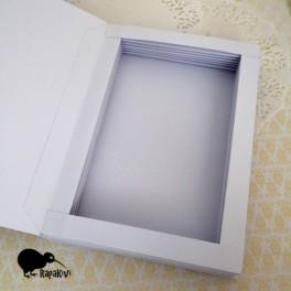 Baza kartki-książki pionowa biała