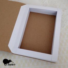 Baza kartki-książki pionowa biało-kraftowa