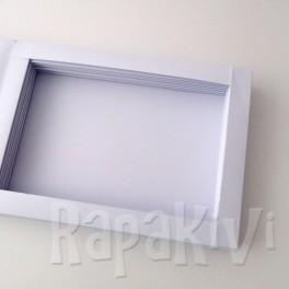 Baza kartki-książki pozioma biała