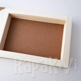 Baza kartki-książki pozioma kremowo-kraftowa