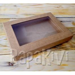 Pudełko z okienkiem A6, 300 g, kraft