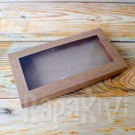 Pudełko z okienkiem DL 2,5 cm, 300 g, kraft