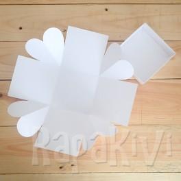 Exploding box z sercami biały