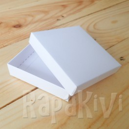 Pudełko mini 8 x 8 x 2 cm, 300 g, białe