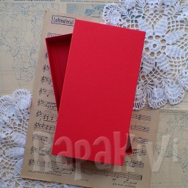 Pudełko na kartkę DL czerwone