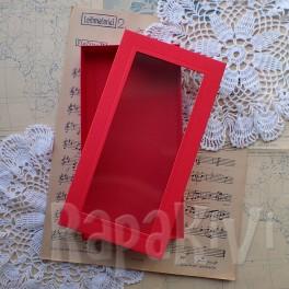 Pudełko z okienkiem DL czerwone