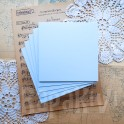 Bazy kwadratowe 13,5 cm pastelowy błękit 5 szt.