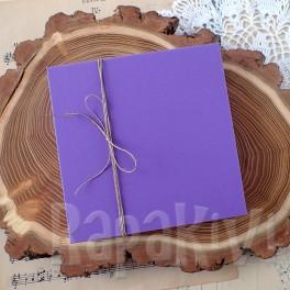Pudełko na kartkę kwadratowe fioletowe
