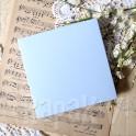 Pudełko na kartkę kwadratowe pastelowy niebieski
