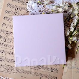 Pudełko na kartkę kwadratowe 14,5 cm róż pastelowy