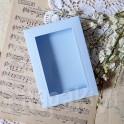 Pudełko z okienkiem A6, niebieski pastelowy