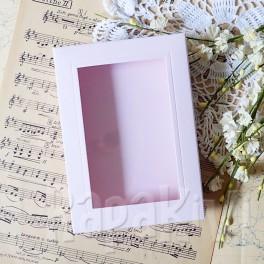 Pudełko z okienkiem A6 róż pastelowy