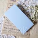 Pudełko na kartkę DL niebieski pastelowy