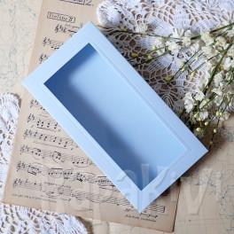 Pudełko z okienkiem DL niebieskie pastelowe