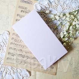 Pudełko na kartkę DL róż pastelowy