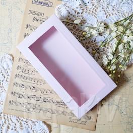Pudełko z okienkiem DL róż pastelowy