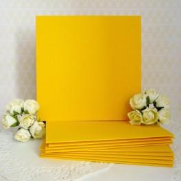 Bazy kwadratowe 10,5 cm, żółte, 10 szt.