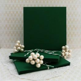 Bazy kwadratowe 10,5 cm, zielone, 10 szt.