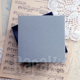 Pudełko na kartkę kwadratowe szare