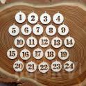 Cyferki do kalendarza adwentowego - wzór 1