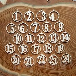 Cyferki do kalendarza adwentowego - wzór 2