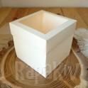 Exploding box z okienkiem 10 cm kremowy
